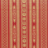 Sewing with Singer - Stripes Red Metallic Yardage