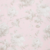 "Rose Garden - Floral in Pink 108"" Wide Backing"