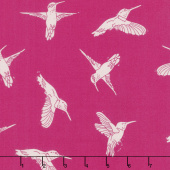 Murmur - Humming Birds Hot Pink Yardage