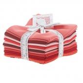 The Colors of Moda - Reds Fat Quarter Bundle