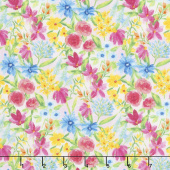 Bloom True - Multi Pink Toss Floral Yardage