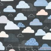 Wild & Free - Cloudy Skies Midnight Yardage