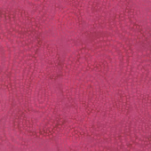 Parfait Batiks - Raspberry Dotted Paisley Yardage