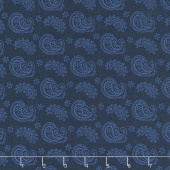 Wilmington Essentials - In the Navy Paisley Toss Navy on Navy Yardage