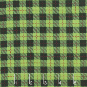 We Whisk You A Merry Christmas - Buffalo Plaid Black Green Yardage