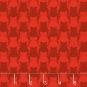 Kitty Kitty - Tonal Cat Red Yardage