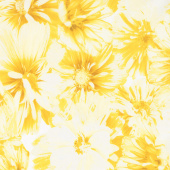 Limoncello - Blossoms Yellow Pearlized Yardage
