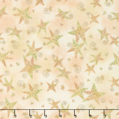 Irish Blessing - Swirly Stars Tan Yardage