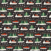 Christmas Traditions - Main Black Yardage