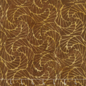 Clockworks Batiks - Fan Nutmeg Yardage