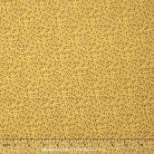 Storybook Flannel - Pretty Poppies Yellow Yardage