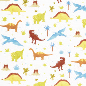 Prehistoric Adventure - Dinosaurs Bermuda Digitally Printed Yardage