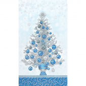 Holiday Flourish 13 - Blue Tree Metallic Panel