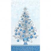 Holiday Flourish 13 - Blue Tree Metallic Panel