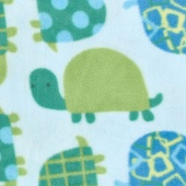 Winterfleece Prints Children - Turtle Time Blue Fleece Yardage