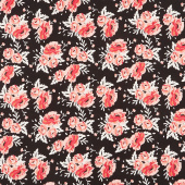 Ava Kate - Rose Bouquet Black Yardage