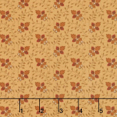 Lancaster - Leaf Vine Soft Gold Yardage