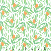 Cora - Kumquats White Yardage