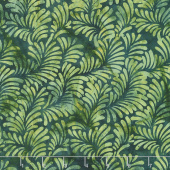 William's Garden Batiks - Diagonal Plumes Pineneedle Yardage
