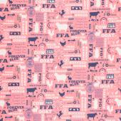 FFA Forever Blue - Main Pink Yardage