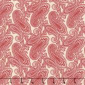 Cinnaberry - Paisley Vanilla Cranberry Yardage