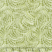 Cat - i - tude - Beaded Swirls Tonal Green Yardage