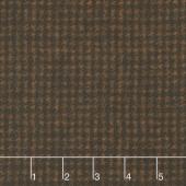 Woolies Flannel - Houndstooth Espresso Yardage