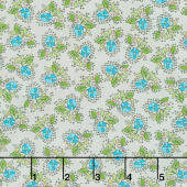 Bubbie's Buttons and Blooms - Petite Bouquet Mushroom Soup Yardage