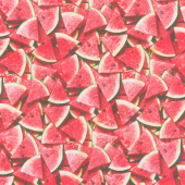 A La Carte - Slice of Life Watermelon Multi Digitally Printed Yardage