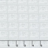 My Happy Place - Sewing Machines Gray Yardage