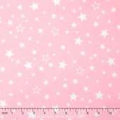 Cozy Cotton Flannels - Stars Pink Yardage