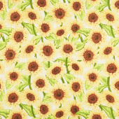 Jardin Du Soleil - Sunflower Allover Tan Yardage