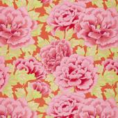 Kaffe Fassett Collective - Stash Scarlet Florals Kimono Crimson Yardage