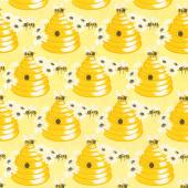Sunny Bee - Bee Hive Yellow Yardage