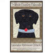 Labrador Retriever Black Precut Fused Appliqué Pack