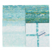 "Java Batiks Favorites Turquoises 10"" Squares"