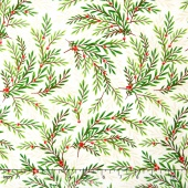 Songbird Christmas - Wispy Branches Natural-Multi Yardage