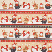 Timber Gnomies - Gnome Border Stripe Yardage