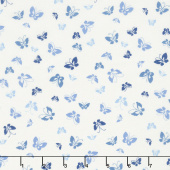 Lazy Days - Butterflies Porcelain Deep Pond Yardage