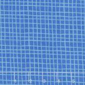 Alphabet Soup Flannel - Grid Blue Yardage