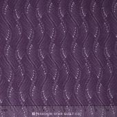 Fresh Lilacs - Violet Wavy Stripe Yardage