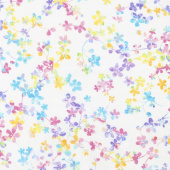 "Watercolor Meadow - Floral Watercolor Pastel Digitally Printed 108"" Wide Backing"