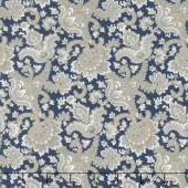 Charming - Paisley Navy Yardage