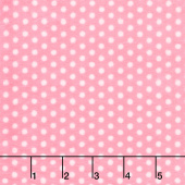 "Cuddle Classic Swiss Dot - Paris Pink/Snow 60"" Minky Yardage"