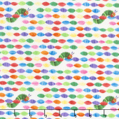 The Very Hungry Caterpillar - Bright Beads White Yardage