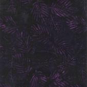 Tonga Batiks - Tulip Spaced Fern Leaves Eggplant Yardage