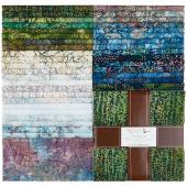 Artisan Batiks - Twilight Snowfall Metallic Ten Squares