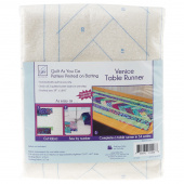 Venice Table Runner Quilt As You Go Preprinted Batting