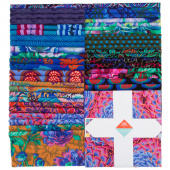 "Kaffe Fassett Collective Spring 2018 - Dark 10"" Squares"