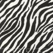 Go Wild - Zebra Black Yardage